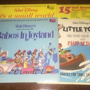 5 Vintage Walt Disney Vinyl Bundle